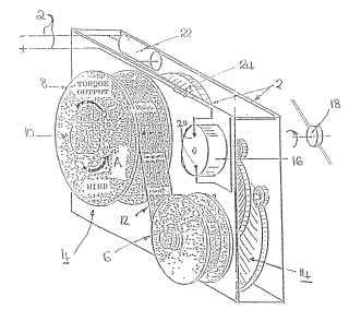 Windup radio patent drawing