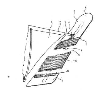 Sail board for snow and ice patent