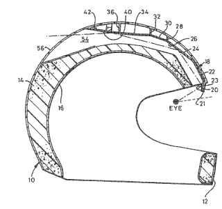 Rear view mirror helmet patent
