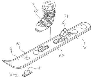 Snowboard with wheels patent