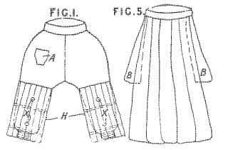 Divided skirt for lady cyclists
