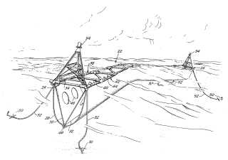 Floating breakwater patent drawing