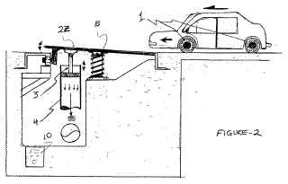 Vehicle powered roadway generator patent
