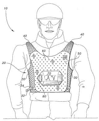 Vest with airbag patent image