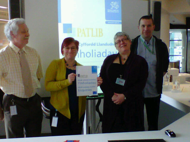 Photo of staff at Llandudno Junction Patlib library