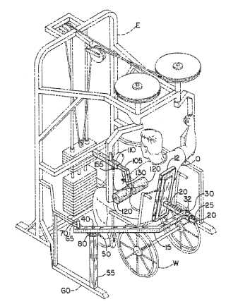 Wheelchair occupant motion stablizer for exercise machines patent drawing