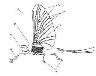 Entomopter patent drawing