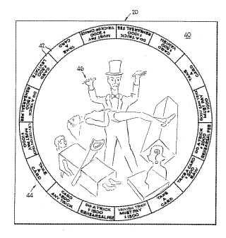 Magic game patent drawing
