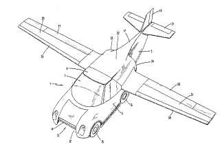 Dennis Butts' Air vehicle patent drawing
