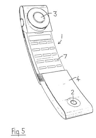 Telephone handset patent drawing