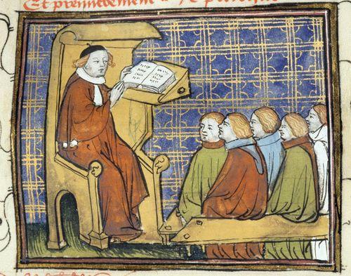 Image result for medieval manuscript lecturer