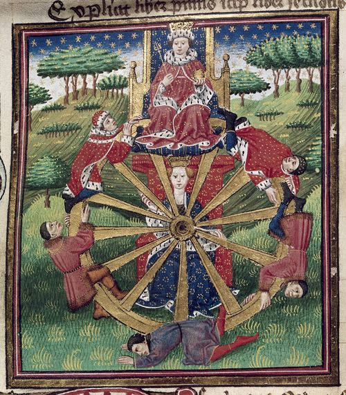 The Wheel of Fortune - Medieval manuscripts blog