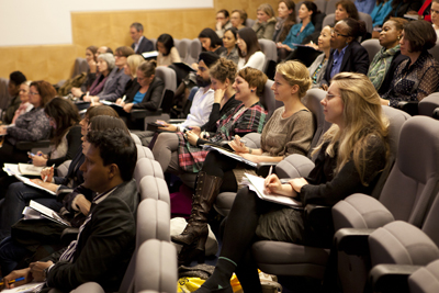 Ethical fashion audience at the British Library Forward-thinking Fashion event