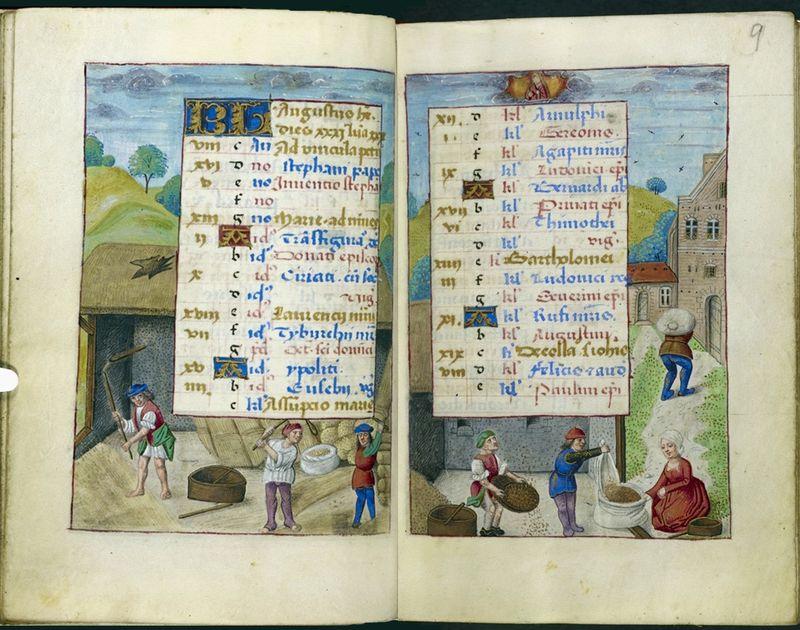 Średniowieczne kalendarze - sierpień