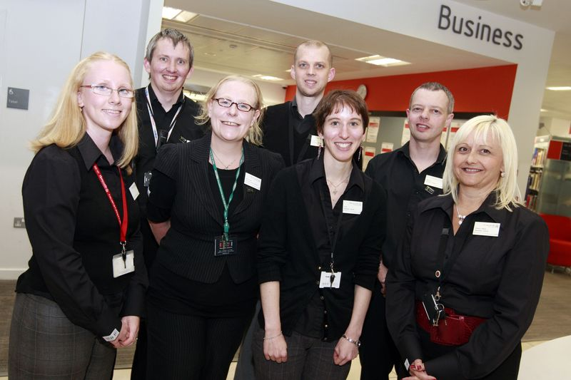 Newcastle Library staff
