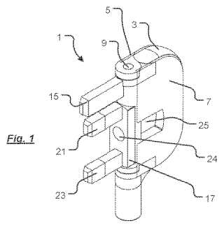 Folding electrical plug patent image