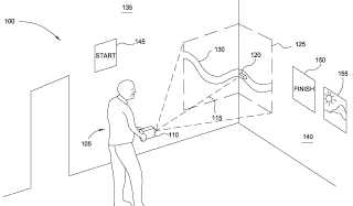 Disney motion beam interaction patent image