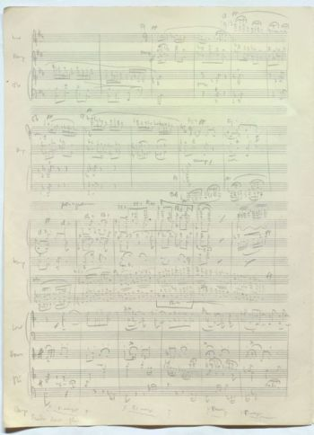 Britten's Young Person's Guide to the Orchestra, autograph manuscript