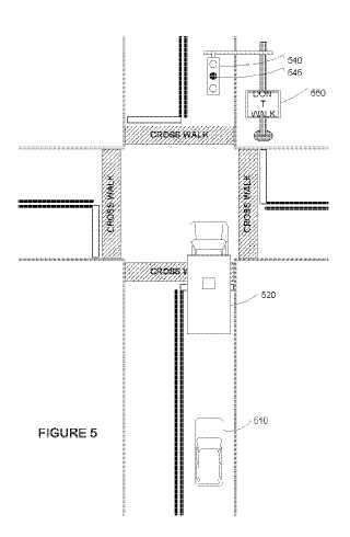 Traffic signal patent drawing by Google