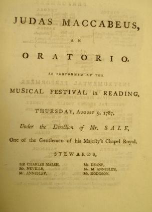 Reading Music Festival 1787