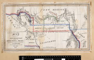 A Disputed Boundary: mapping the Gadsden Purchase Treaty ... on