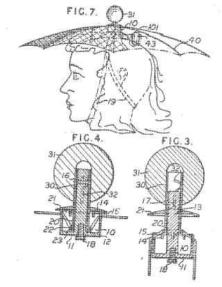 Rain protective head gear rain hat patent image