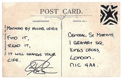 Gareth Pugh Postcard