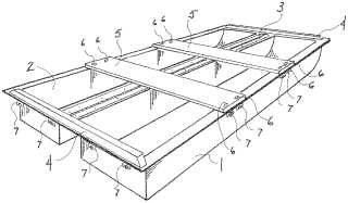Folding boat converting to roof top carrier patent image