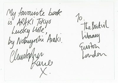 Christopher Kane Postcard