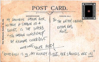 Alex Fury Postcard