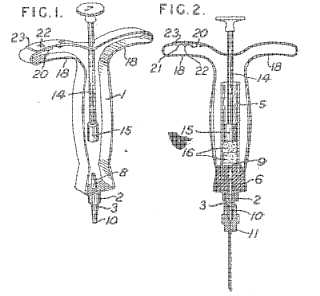 Disposable syringe patent image
