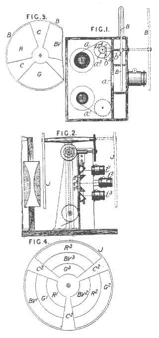 Turner and Lee colour film patent drawings