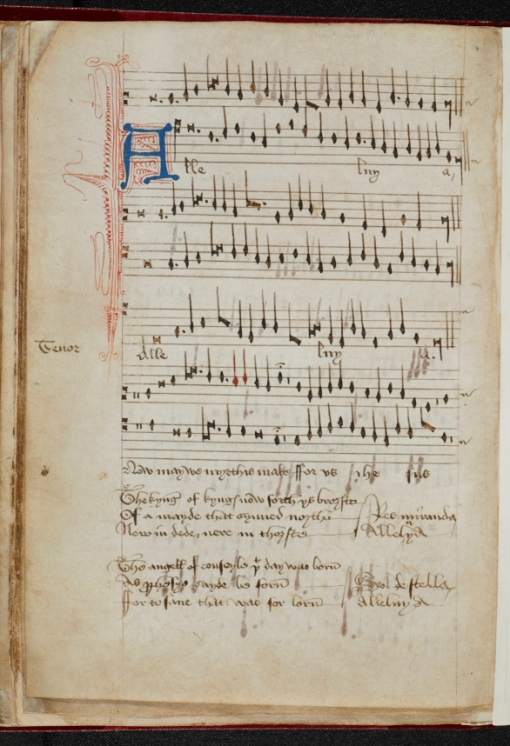 carol for the nativity alleluia now we mirthes make add ms - British Christmas Songs
