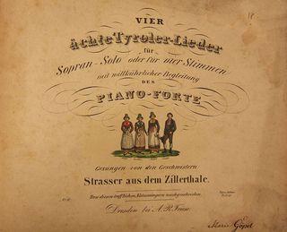 Vier ächte Tyroler-Lieder, 1835