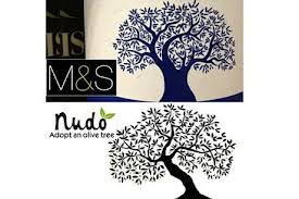 Nudo and Marks and Spencer olive tree logos