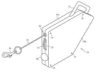 Retractable dog leash with light patent image