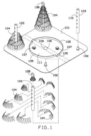 Christmas tree game patent drawing