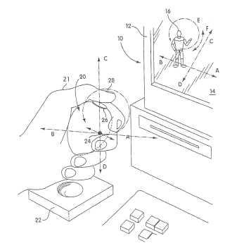 Mitsubishi handheld remote control patent drawing