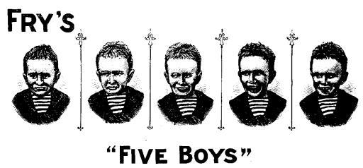 Fry'sFive boystrade mark