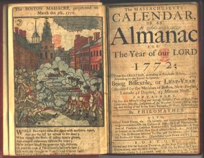 SMALL Massachusetts Calendar 1772 p p 2517 n (3)