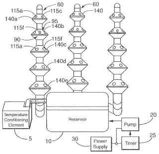 Aeroponics apparatus patent drawing