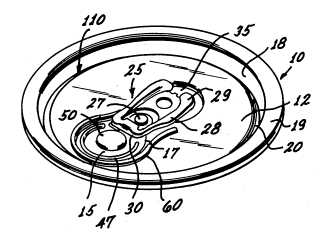 Ring pull patent
