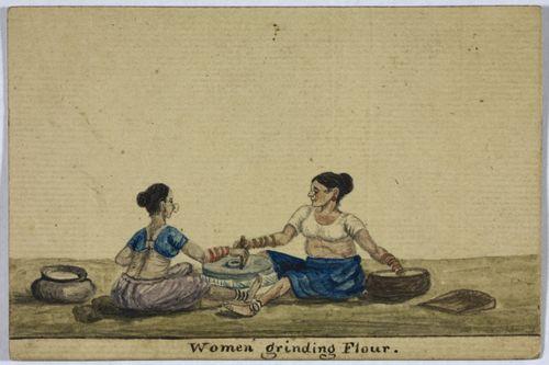 Women grinding flour D40013-71