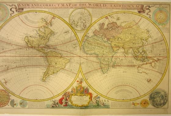 Maps And Views Blog Conservation - Us parchment map