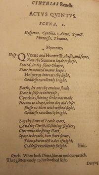 Ben Jonson, Cynthia's Revels, Act 5, Scene 1