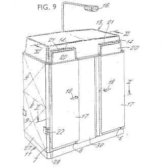 Portaloo patent drawing