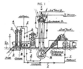 Pedrick patent for producing hydrogen and electricity from water