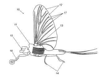 Entomopter patent drawing