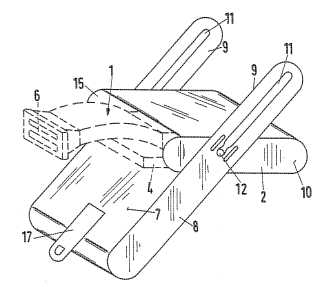 Device for keeping a razor patent drawing