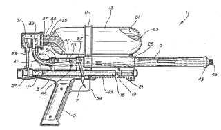 Johnson water gun patent image 5074437